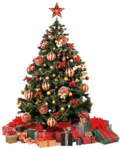 ChristmasTree with presents png 75