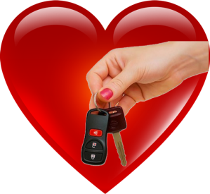 heart with keys png
