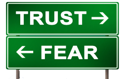 highway sign trust vs fear png